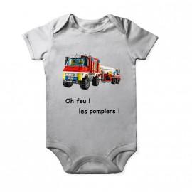body camion pompier pour enfant pour bebe