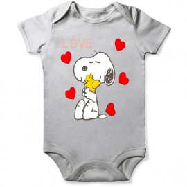 body snoopy love pour bebe