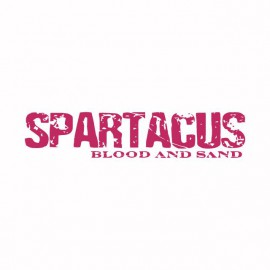 Tee shirt Spartacus rose/blanc