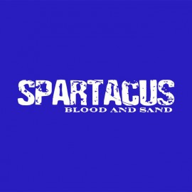 Tee shirt Spartacus blanc/bleu royal