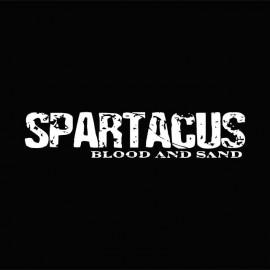 Tee shirt Spartacus blanc/noir