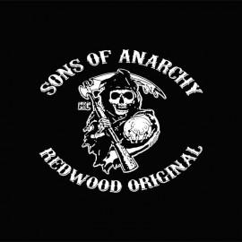 Tee shirt Sons Of Anarchy blanc/noir