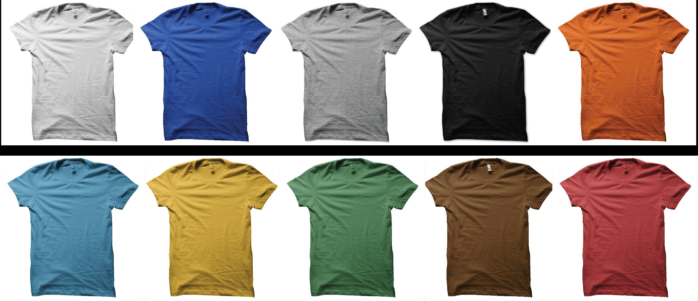 couleurs tshirts serishirts